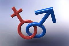 Знак человека и женщины Стоковые Фото