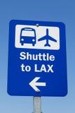 Знак челнока LAX стоковые фотографии rf
