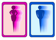 Знак человека и женщины Стоковое Изображение