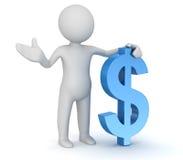 Знак человека и доллара Стоковые Фотографии RF