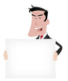 знак шаржа бизнесмена рекламы Стоковое фото RF