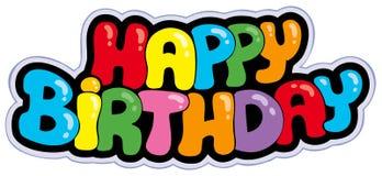 знак шаржа дня рождения счастливый иллюстрация штока