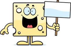 Знак швейцарского сыра шаржа Стоковое Фото