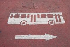 знак шины стоковое изображение