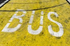 Знак шины Стоковое Фото