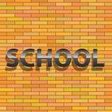 Знак школы Стоковое Изображение