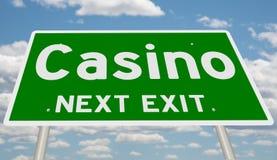 Знак шоссе для казино стоковая фотография rf