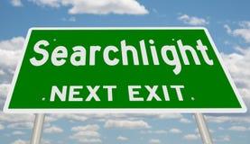 Знак шоссе для прожектора стоковые изображения