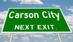 Знак шоссе для Carson City стоковые фотографии rf