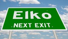 Знак шоссе для Elko стоковые изображения