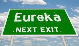 Знак шоссе для Eureka стоковые фотографии rf