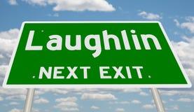 Знак шоссе для Laughlin стоковое изображение rf