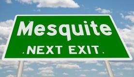 Знак шоссе для Mesquite стоковое фото
