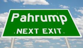 Знак шоссе для Pahrump стоковое фото rf
