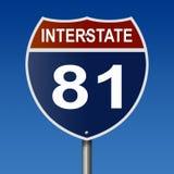 Знак шоссе на межгосударственная трасса 81 иллюстрация вектора