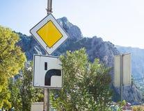 Знак шоссе, Хорватия Стоковое Изображение RF