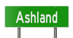 Знак шоссе для Ashland иллюстрация вектора
