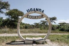 Знак экватора Уганды Стоковые Изображения RF