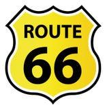 знак экрана 66 трасс форменный Стоковые Изображения