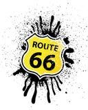 знак экрана 66 трасс форменный Стоковое фото RF