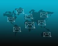 Знак электронной почты стоковая фотография rf