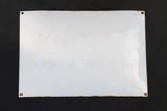 знак эмали старый стоковая фотография rf