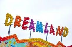 Знак ярмарки потехи Стоковое Изображение RF