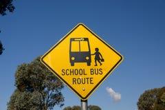 Знак для автобусной остановки Стоковая Фотография