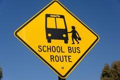 Знак для автобусной остановки Стоковое фото RF