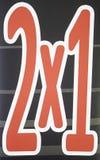 Знак 2 для одного Стоковые Изображения RF