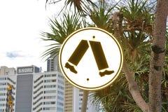 Знак для пешеходного перехода Стоковое фото RF