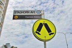 Знак для пешеходного перехода Стоковая Фотография RF