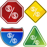 знак доллара установленный Стоковая Фотография RF