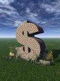 знак доллара Стоковое Изображение