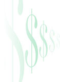 знак доллара line2 Стоковая Фотография RF
