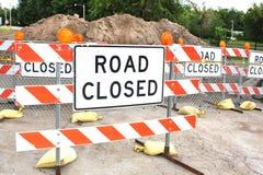 Знак дороги закрытый Стоковые Изображения RF