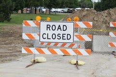 Знак дороги закрытый Стоковые Фото