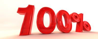 знак 100 3d Стоковая Фотография