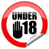 знак 18 вниз Стоковые Изображения