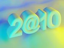 знак 2010 надписи использовал нул Стоковая Фотография