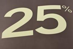 знак 25 процентов Стоковая Фотография