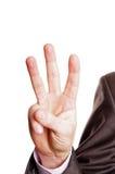 знак 3 перста Стоковые Фотографии RF
