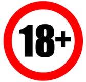 Знак 18 Стоковые Фото