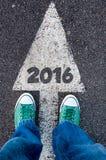 знак 2016 стоковое фото rf