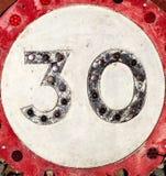 Знак 30 Стоковое Изображение RF