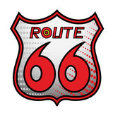 знак 66 трасс Стоковое Фото
