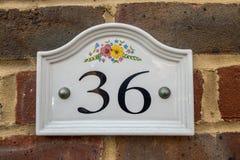 Знак 36 Стоковая Фотография RF