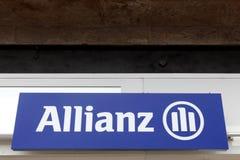 Знак allianz на стене Стоковое Фото