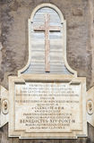 Знак Amphitheatrum Flavium, Colosseum rome Стоковые Изображения