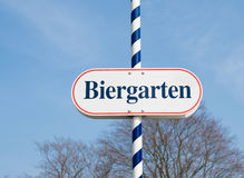 Знак Biergarten Стоковые Фотографии RF